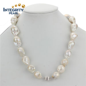 Fashion AA 15mm Freshwater Endless Baroque Pearl Necklace