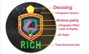 Hot Sale Custom Make Your Own Hologram Sticker, Silver Background Hologram Sticker pictures & photos