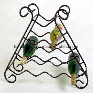 Unique Modern Furniture 10 Bottle Metal Wine Display Rack pictures & photos
