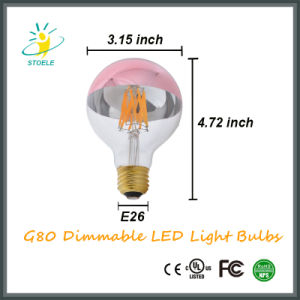 G25/G80 with UL Listed Ce and RoHS 4W 6W LED Light Bulb pictures & photos
