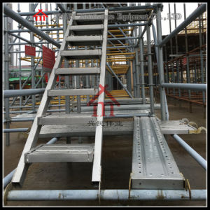 Skid Resistance Galvanized Construction Steel Ladder pictures & photos
