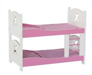 Hot Christmas Gift Wooden Doll Double Decker Bed Toy for Kids and Children pictures & photos