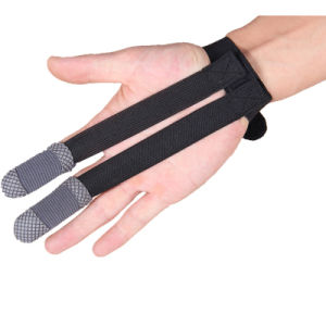 Archery Finger Protector Shooting Gloves Two Finger Outdoor Hunting Gloves pictures & photos