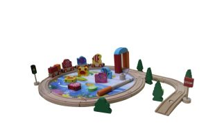 Hot Christmas Gift 40PCS Wooden Train Set Toy for Kids and Children pictures & photos