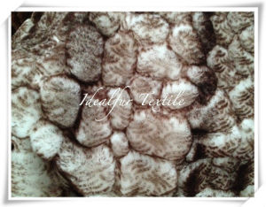 Polyester Boa Plush Fake Fur with Leopard Point pictures & photos