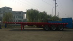 Cimc Stock Available 40FT Flatbed Semi Truck Trailer Chassis pictures & photos