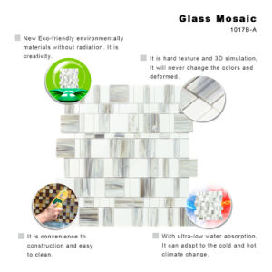 Building Materials Grey Apartments Kitchen Wall Tiles Glass Mosaic pictures & photos