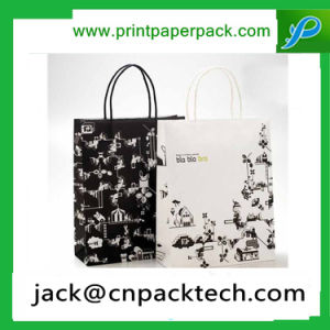 Recycling and Environmental Protection Kraft Paper Bag with Rope Handle pictures & photos