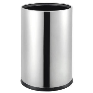Popular Leather Single Layer Trash Can for Hotel and Home pictures & photos