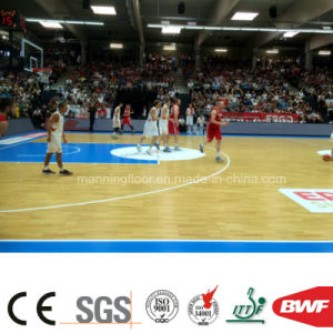 Wearable Indoor Maple Vinyl Sports Floor for Basketball Court 6.5mm pictures & photos