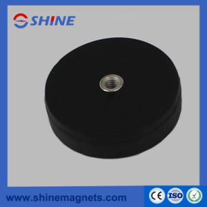 D43mm Threaded Hole Strong Rubber Coated Pot Magnet pictures & photos