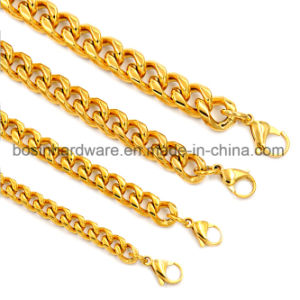 Gold Stainless Steel Round Curb Chain pictures & photos