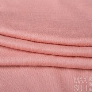 100% Machine Wash Wool Fabric with Good Elasticity for Nightdress in Light Pink pictures & photos