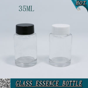 35ml Clear Cylinder Custom Glass Bottle for Essence pictures & photos