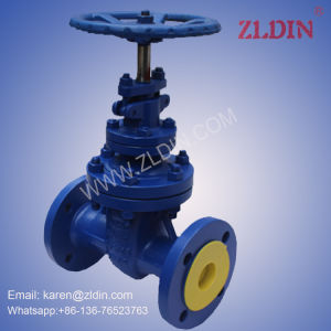 DIN Standard Cast Steel Wcb Pn40 Z45h Non-Rising Stem Gate Valve for Water Treatment pictures & photos
