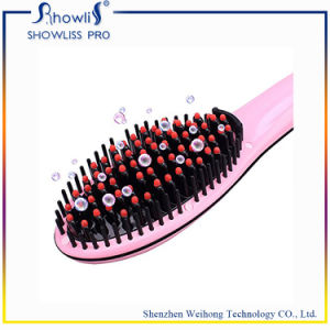 Electric Ion Hair Straightener Brush with LCD Display pictures & photos
