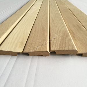 Wood Moulding Unfinished MDF with Oak Veneer Stair Nose Flooring Accessories pictures & photos