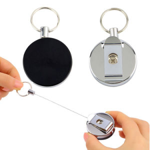Heavy Duty Locking Retractable Reel Key Retractor Anti-Lost Security Keychain pictures & photos