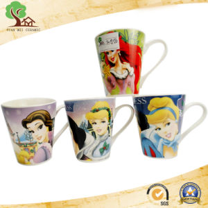 V Shape Ceramic Mug in Cartoon Character for Baby Gift pictures & photos
