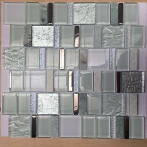 European Style White Glass and Marble Mosaic Tile for Wall pictures & photos