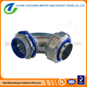 90 D Angle Liquid Tight Flexible Conduit Connector pictures & photos