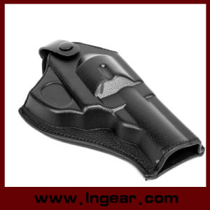 Short Tactical Army Force Leather Revolver Pistol Holster pictures & photos