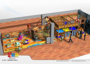 Pirate Ship Indoor Playground Equipment for Shopping Mall