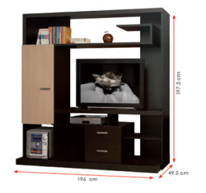 Modern MFC Laminated Wooden Cabinet TV Stands (HX-DR102) pictures & photos