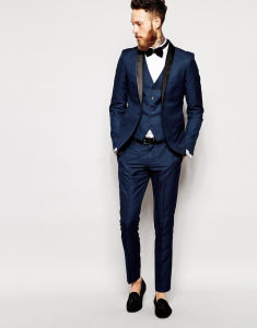 2017 New Design Men Tuxedo Suit of Blue Color pictures & photos