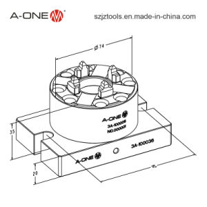 A-One Erowa ITS Simple Manual Automatic Chuck for CNC Lathe Use 3A-100036 pictures & photos