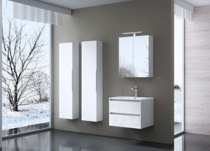 Wall Mounted Bathroom Vanity / Double Sink Bathroom Cabinet