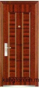 Real Texture Luxury Decorative One and Half Door-Leaf Steel Door (steel door) pictures & photos