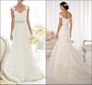 Embroidery Bridal Gowns Mermaid Lace Beads Wedding Dresses Z1719 pictures & photos