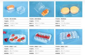 Clear Disposable Plastic Tray Fruit Packaging Tray Vegetable Packaging Tray pictures & photos