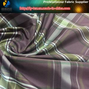 Purple Yarn Dyed of Polyester Check Faric for Skirt (YD1061) pictures & photos