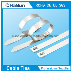 Outdoor Use Stainless Steel Ball Lock Cable Tie in Bad Environment pictures & photos