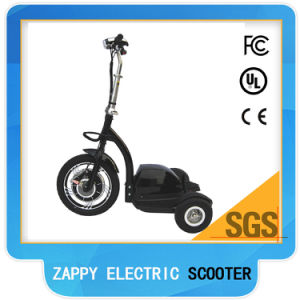 3 Wheel Tricycle Hub Motor Front-Wheel Drive Zappy Scooter for Travel pictures & photos
