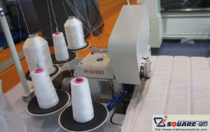 Stepless Speed Mattress Panel Flanging Machine pictures & photos