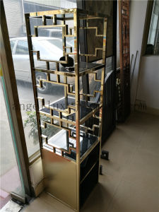 Hotel Furniture Fabrication Stainless Steel Display Shelves Artistic Racks Could Do Many Colors pictures & photos