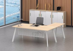 White Customized Metal Steel Office Executive Table Frame Ht79-2 pictures & photos