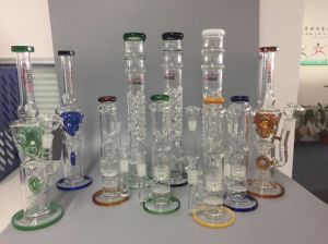 Straight Matrix Perc Vaporizer Showerhead Glass Smoking Water Pipe pictures & photos