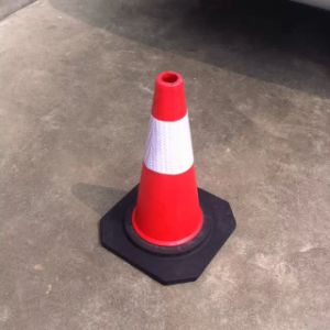 70cm Flexible Crashproof EVA and PE Traffic Cones pictures & photos