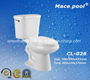 Ceramic Two-Piece Toilets Water Closet for Bathroom (CL0-26) pictures & photos