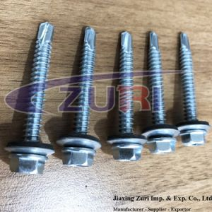 Self Drillng Roofing Screw 14X2 Zinc Plated with EPDM Washer pictures & photos