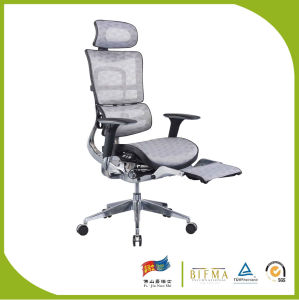 High Back White Cushion for Office Manager Chair with Footrest pictures & photos