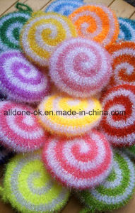 Hand Crochet Spiral Scrubbies Susemi Dish Washing Scrubber Cloth 12cm pictures & photos