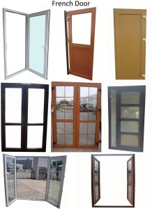 PVC Hinge Door, Plastic French Casement Door pictures & photos