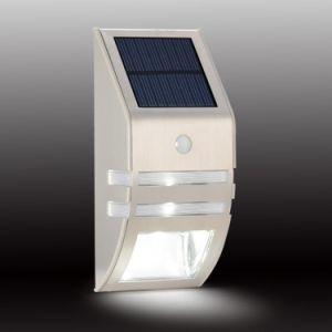 Solar Lamp with Motion Sensor 0.5W 4V Polycrystalline Silicon Used in Outdoor Wall Light SL1-25 pictures & photos