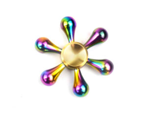 Rainbow Colorful Metal Finger Tri Spinner Hand Toy Fidget Spinner pictures & photos