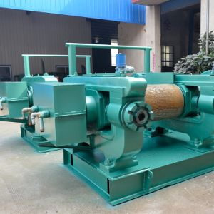 Waste Tyre Recycling Twin Roller Rubber Pulverizer pictures & photos